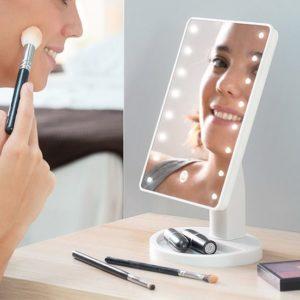 Érintős asztali tükör LED-del