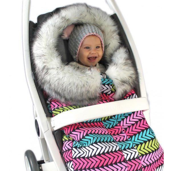 spalna vreča za voziček roza eskim